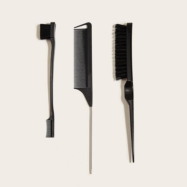 3pcs Hair Comb Set, Black