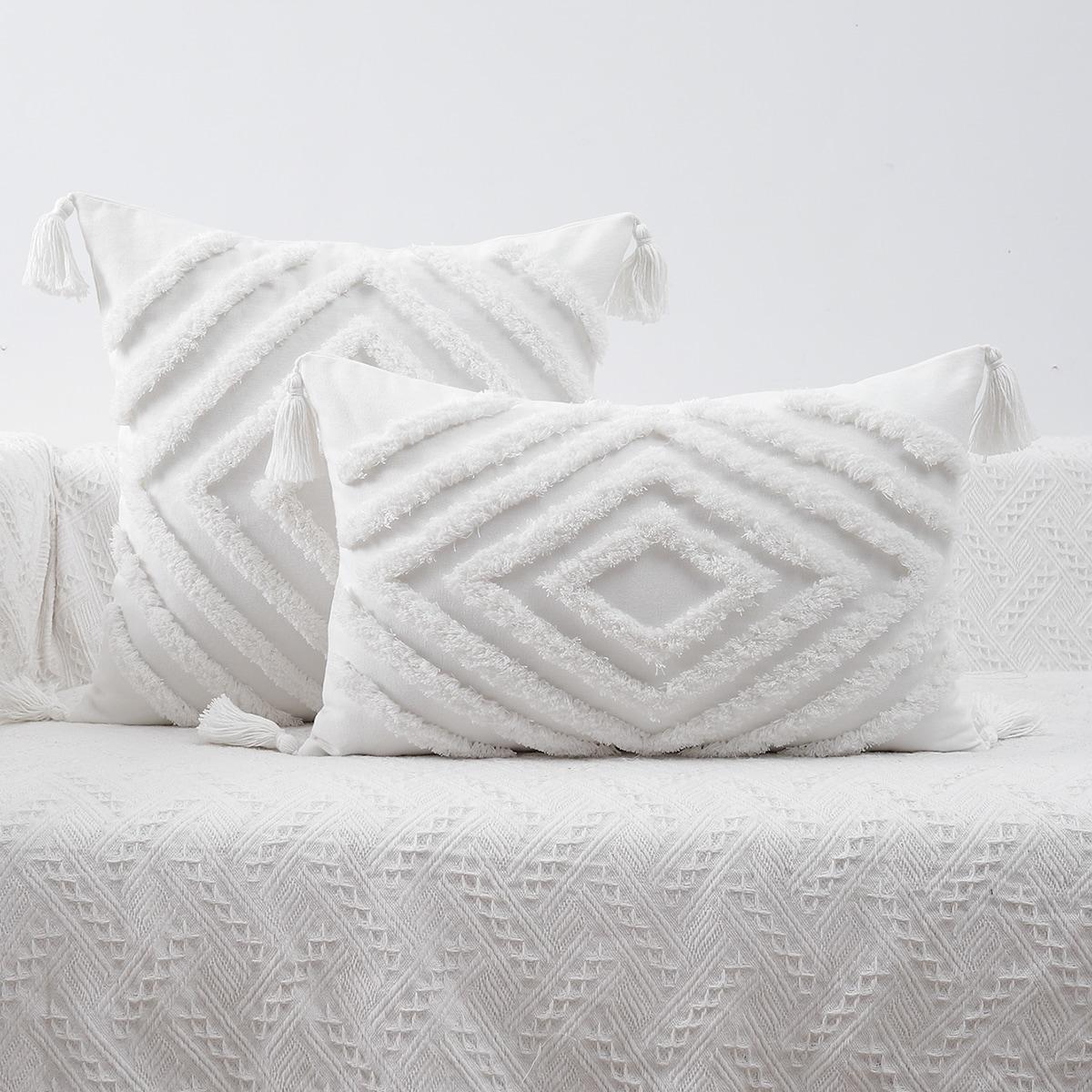 1шт Чехол для подушки без наполнителя геометрический тафтинговый