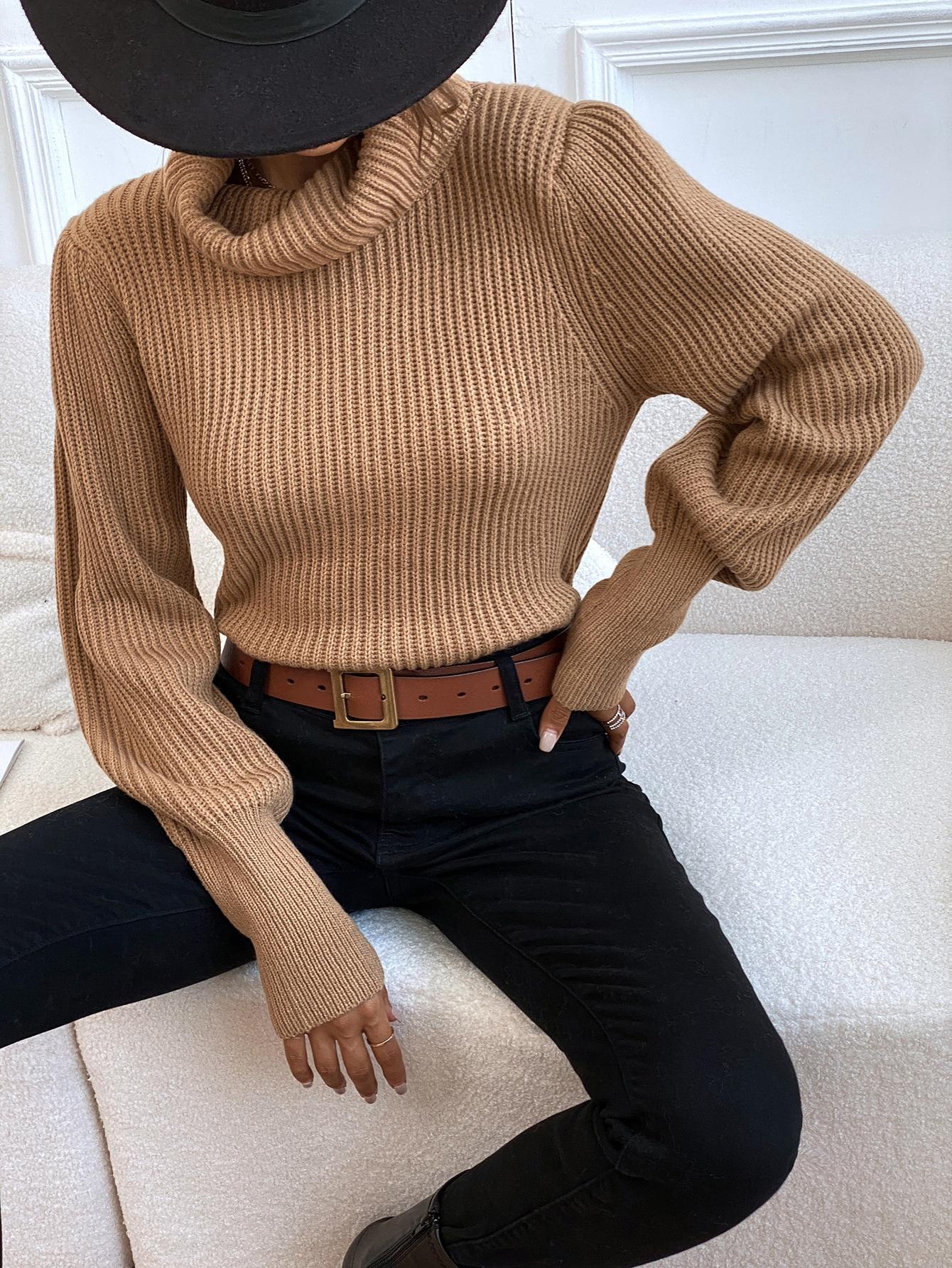 Вязаный свитер в рубчикsw2106244969360365