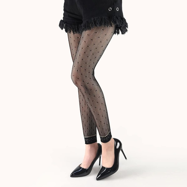 Hollow Out Tights, Black
