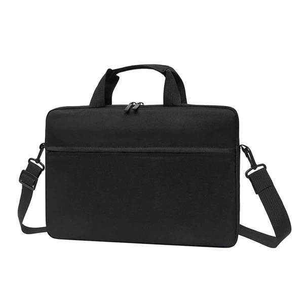 Men Minimalist Laptop Bag, Black