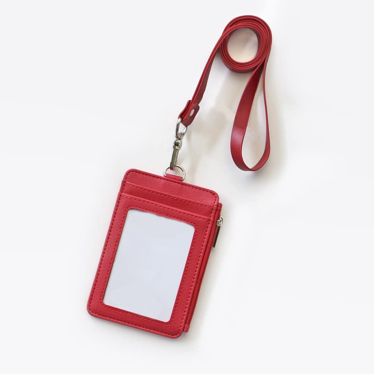 1шт Обложка для ID-карты со шнурком