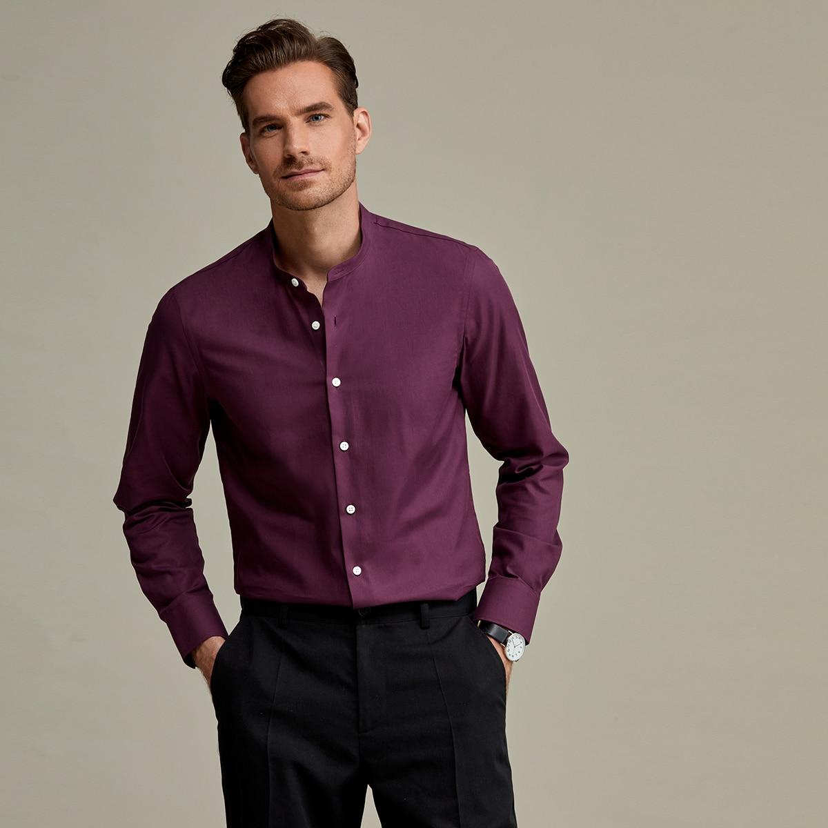 Рубашка с изогнутым подолом для мужчины