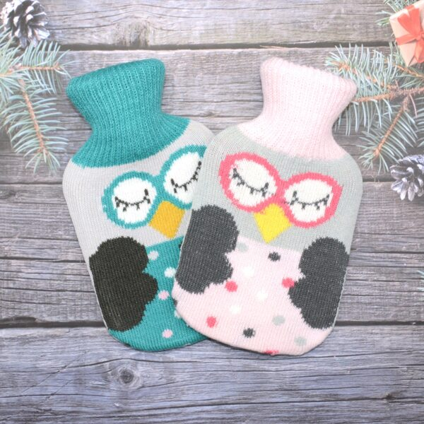 1pc Random Knitted Owl Cover Hot Water Bag, Multicolor