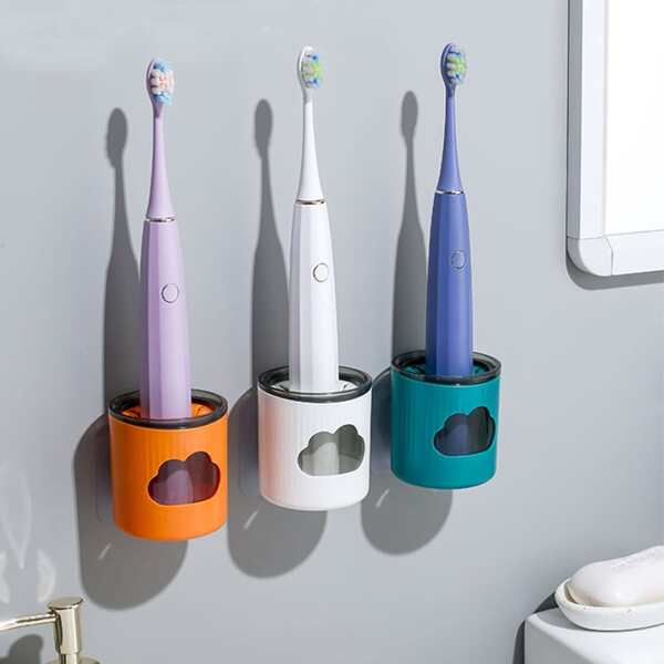 1pc Wall Mounted Random Electric Toothbrush Holder, Multicolor