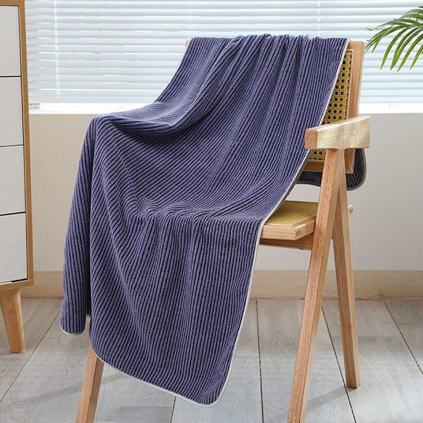 Striped Pattern Bath Towel, Multicolor