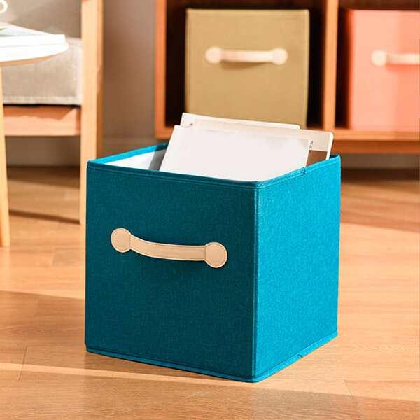 1pc Foldable Storage Basket, Multicolor