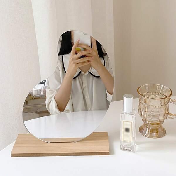Desktop Makeup Mirror, Silver