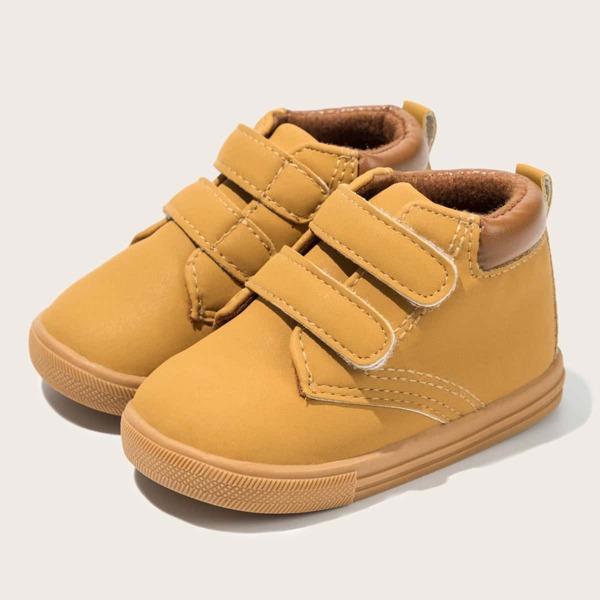 Baby Minimalist Velcro Strap Sneakers, Khaki