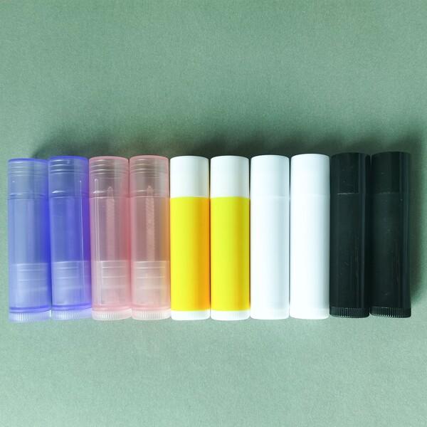 10pcs 5g Lip Balm Tube, Multicolor