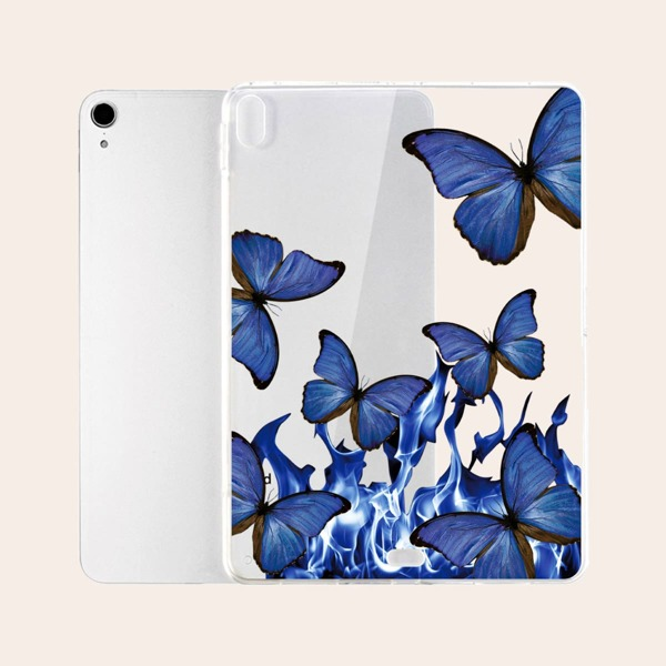 Butterfly Pattern Clear Case For iPad