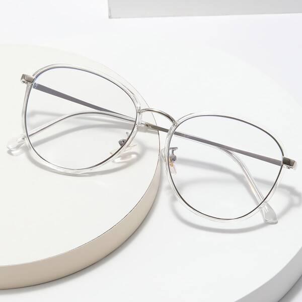 Geometric Frame Anti-Blue Light Eyeglasses
