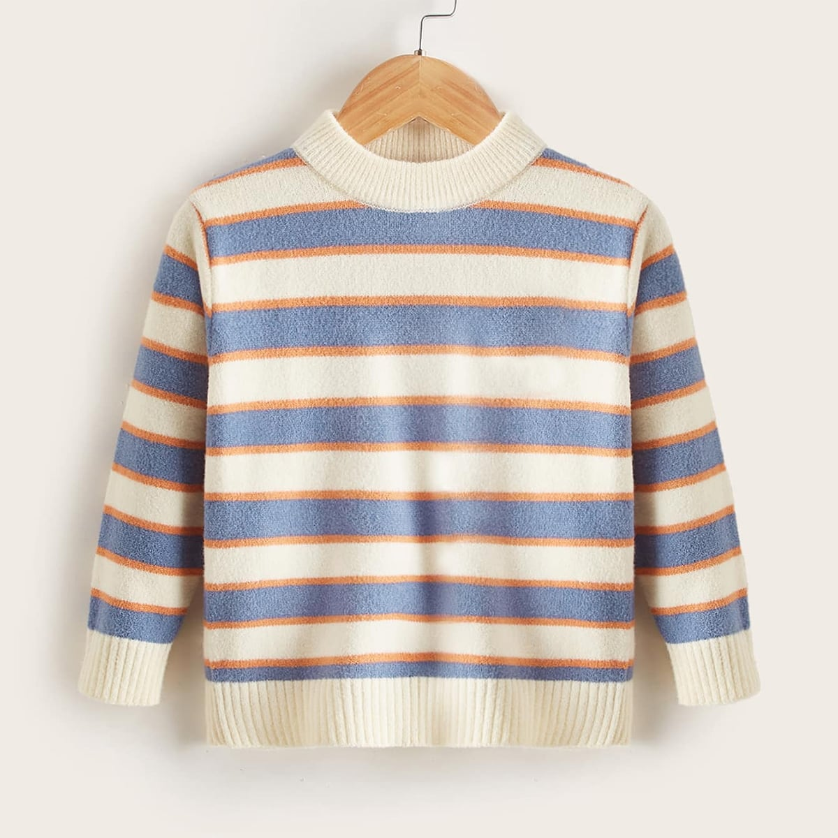 Toddler Girls Striped Colorblock Sweater