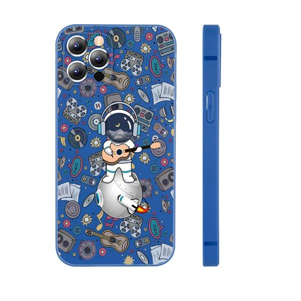 Cartoon Astronaut Phone Case, Multicolor