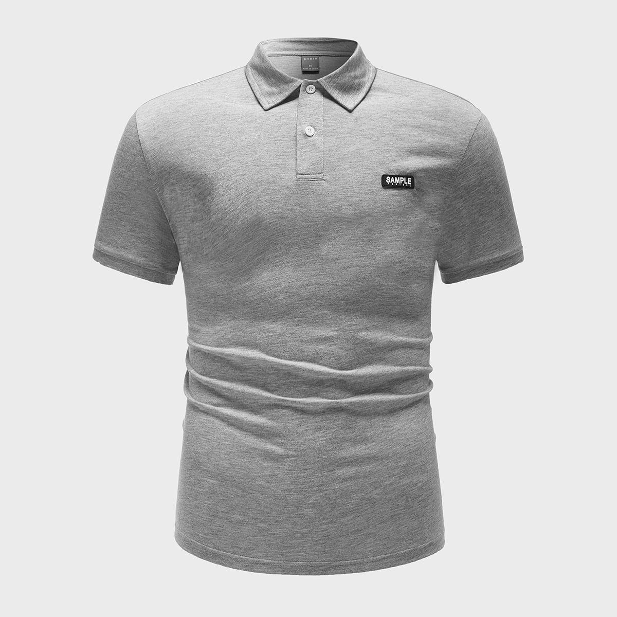 Рубашка-поло с заплатой для мужчины