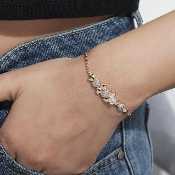 18k Gold Plated Heart Detail Bracelet