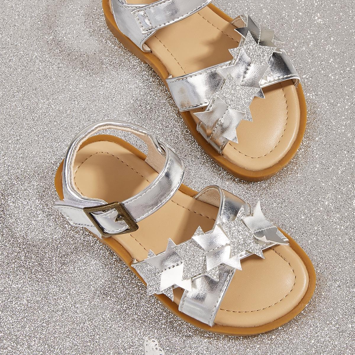 Baby Metallic Star Appliques Sandals