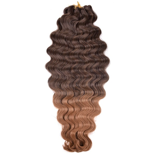 3pcs Long Curly Synthetic Hair Extension, Maroon