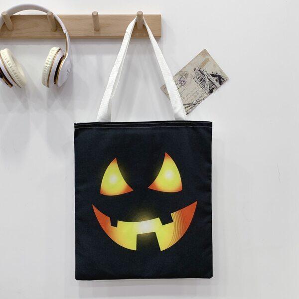 Halloween Graphic Shopper Bag, Multicolor