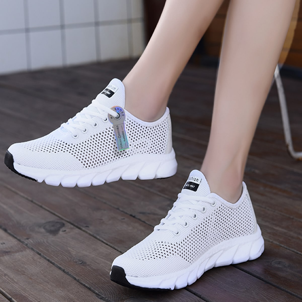 Minimalist Hollow Out Design Sneakers