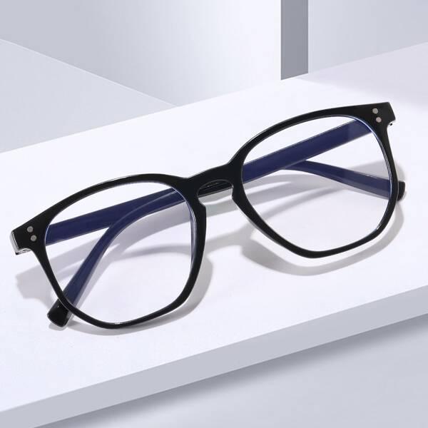 Men Anti-Blue Light Eyeglasses, Black