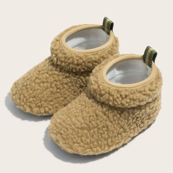 Boys Minimalist Snow Boots, Brown