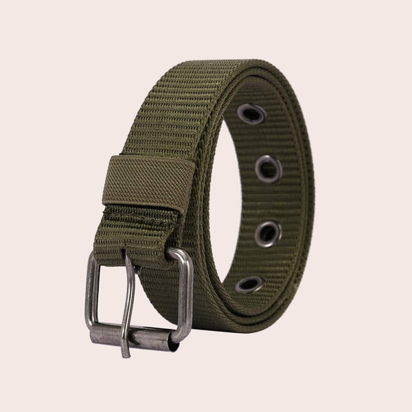 Men Solid Belt, Army green