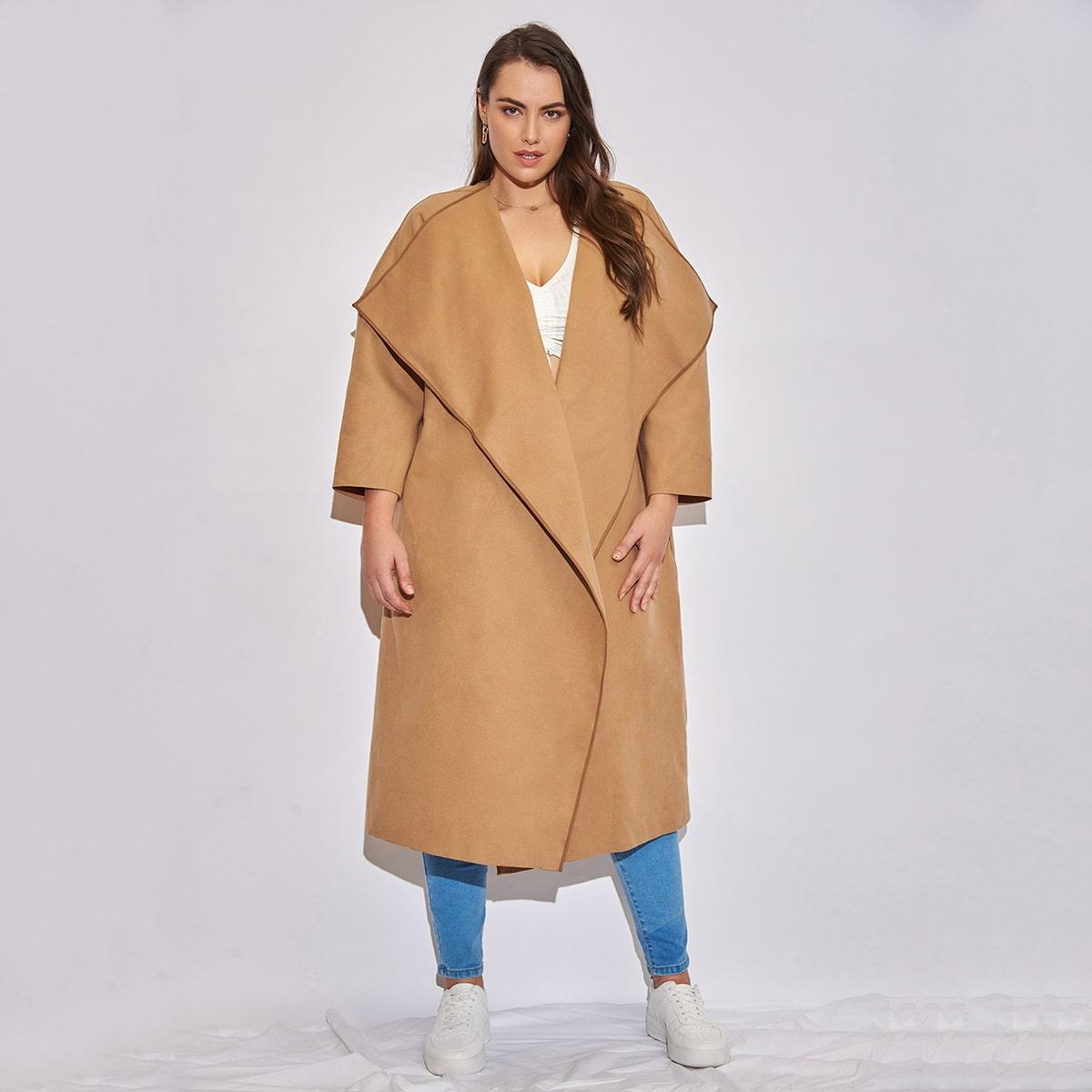 Manteau col cascade