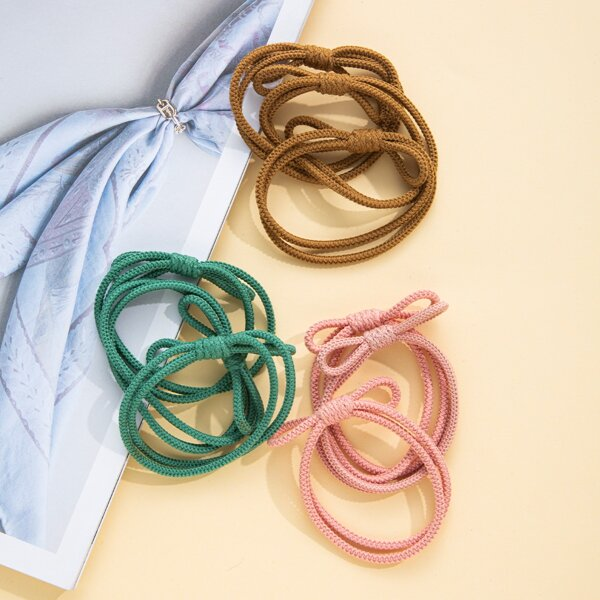 9pcs Minimalist Hair Tie, Multicolor
