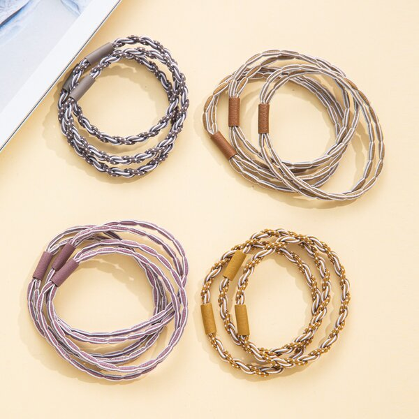 12pcs Twist Hair Tie, Multicolor