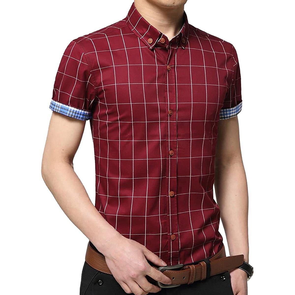 Рубашка в клетку для мужчины
