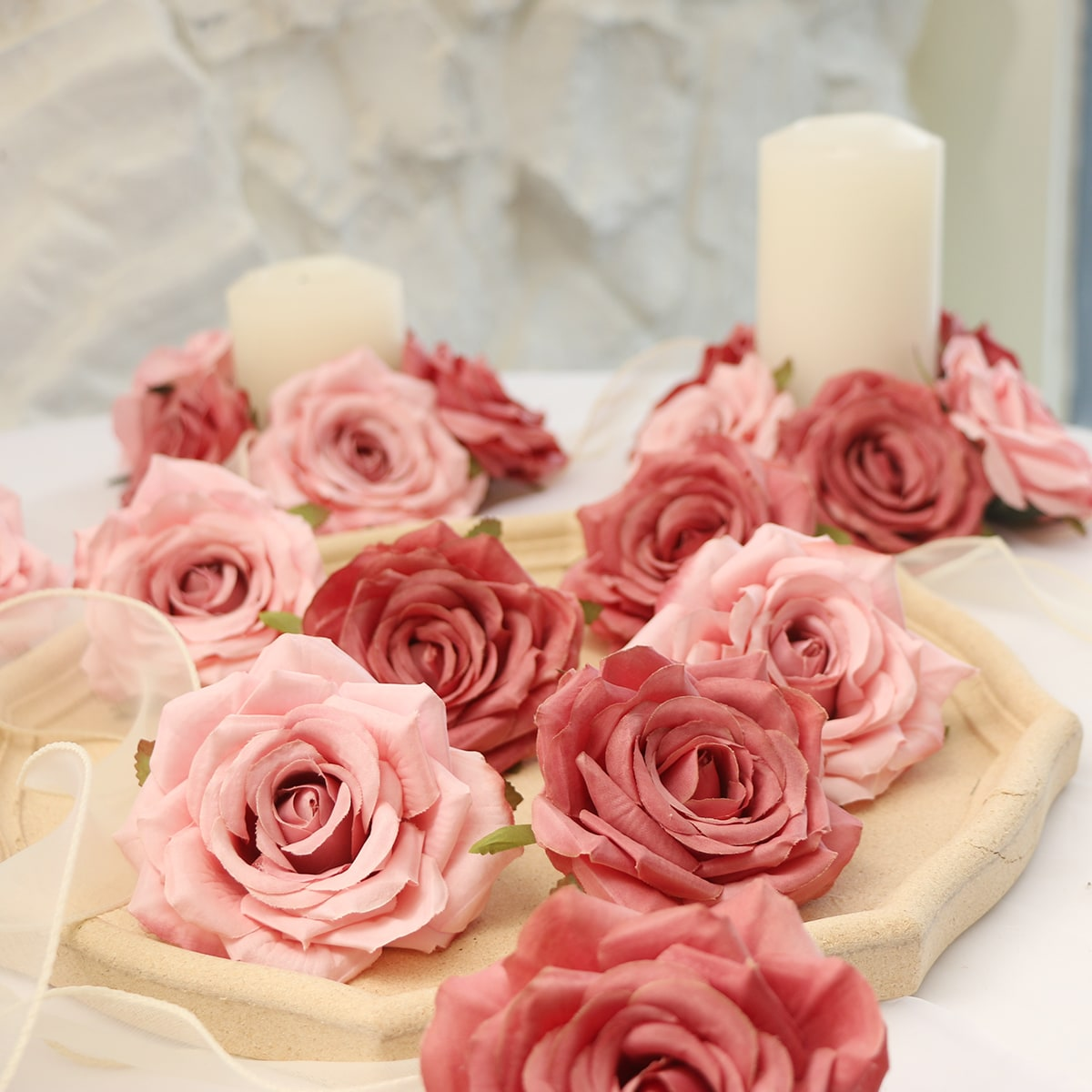 5шт Искусственная роза