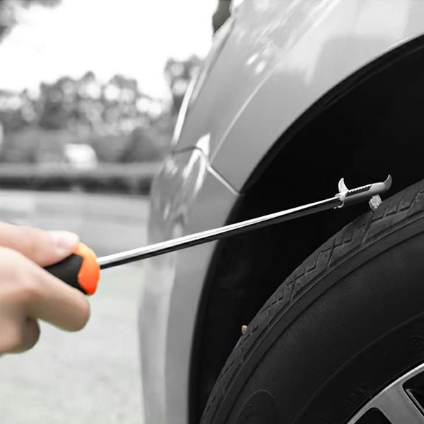 Car Tire Cleaning Hook, Silver