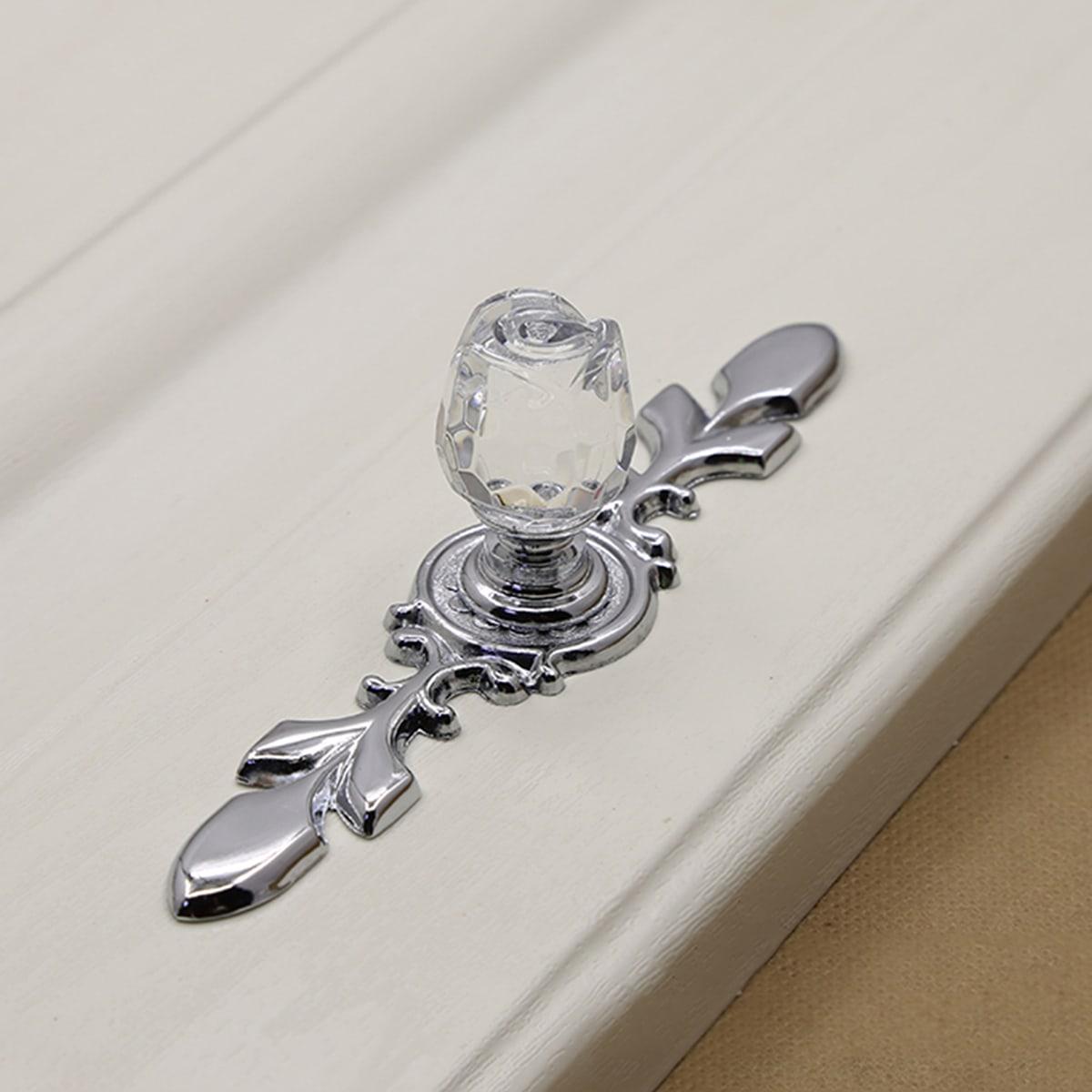 роза с кристаллом Дверная ручка