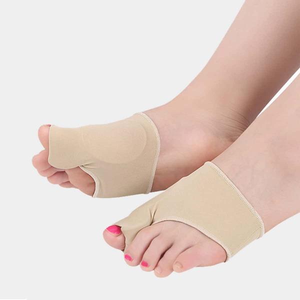 1pair Thumb Valgus Correction Socks, Apricot