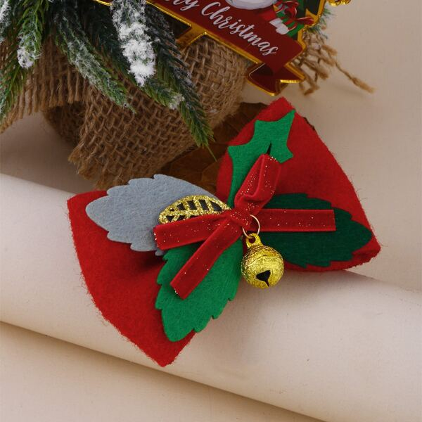 Christmas Bell Decor Hair Clip, Multicolor
