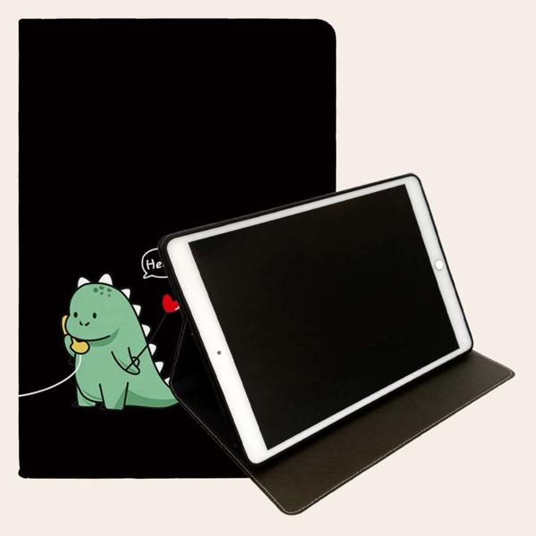Cartoon Dinosaur Pattern Case For iPad, Multicolor
