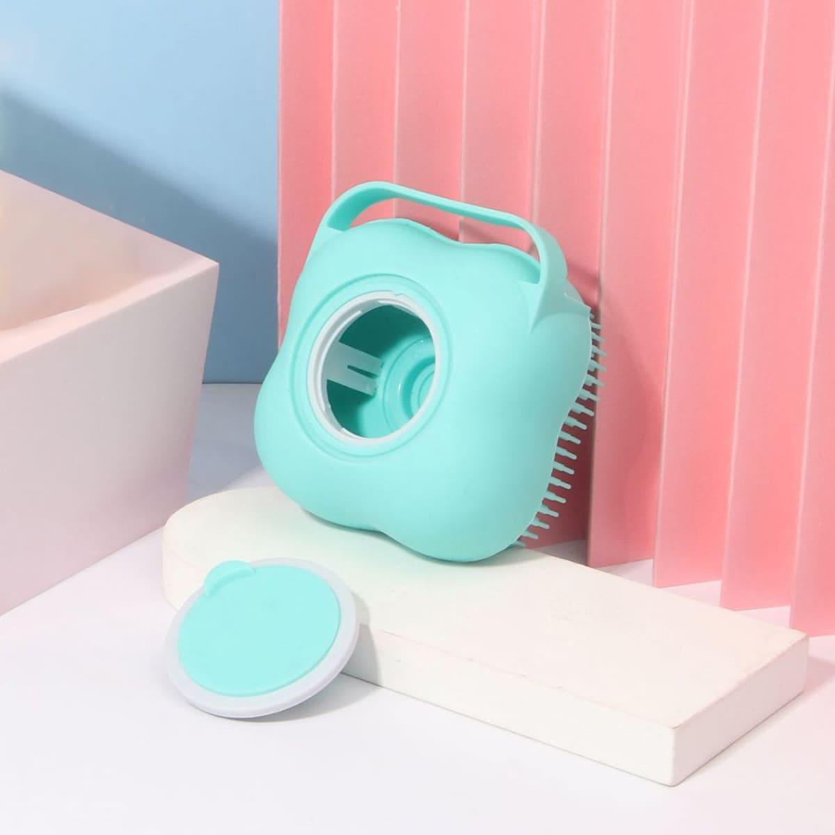 1pc Silicone Pet Shower Brush