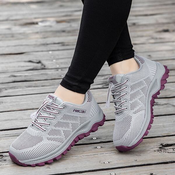 Minimalist Breathable Casual Shoes, Dusty purple