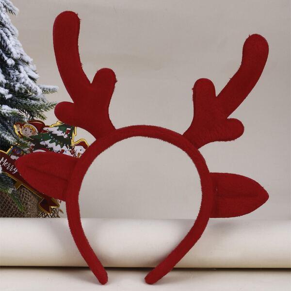 Christmas Antlers Decor Headband, Multicolor