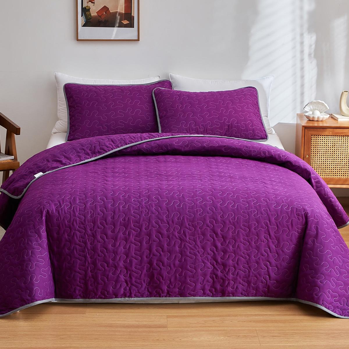 Plain Bedspread Set