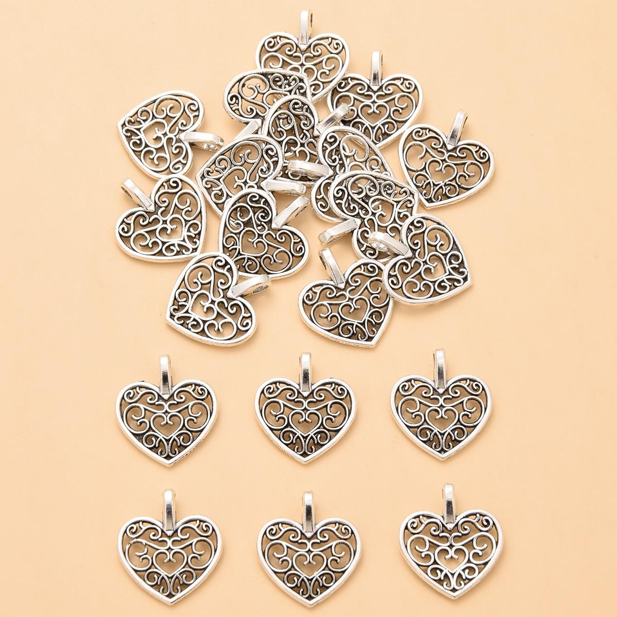 20pcs Heart Design Pendant