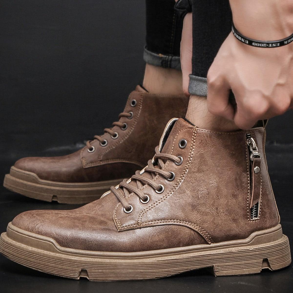 Men Vintage Design Boots