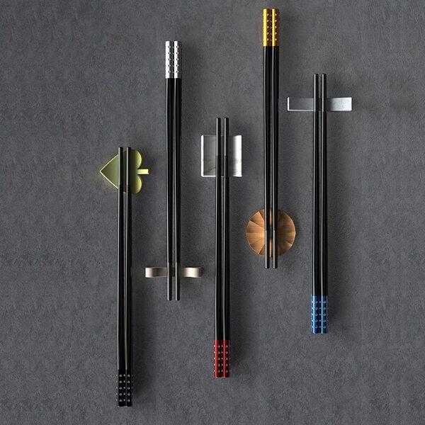 5pairs Dot Pattern Chopstick, Multicolor