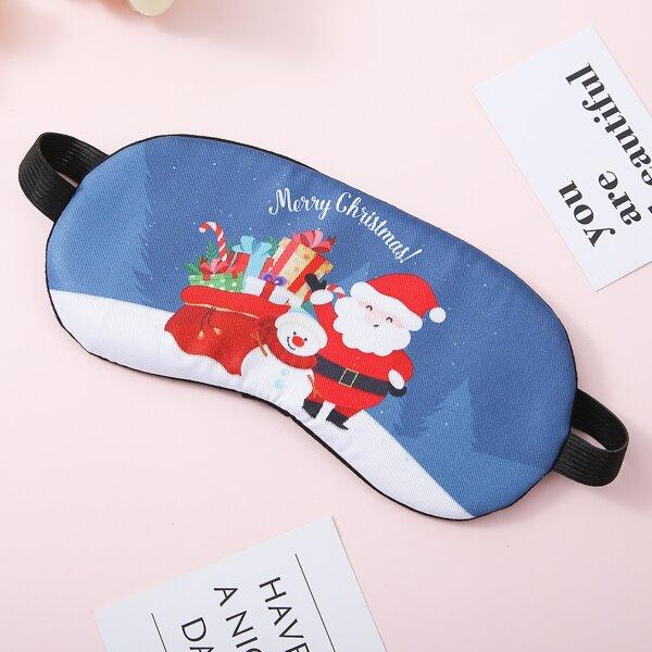 1pc Christmas Santa Claus Blackout Eye Cover, Multicolor