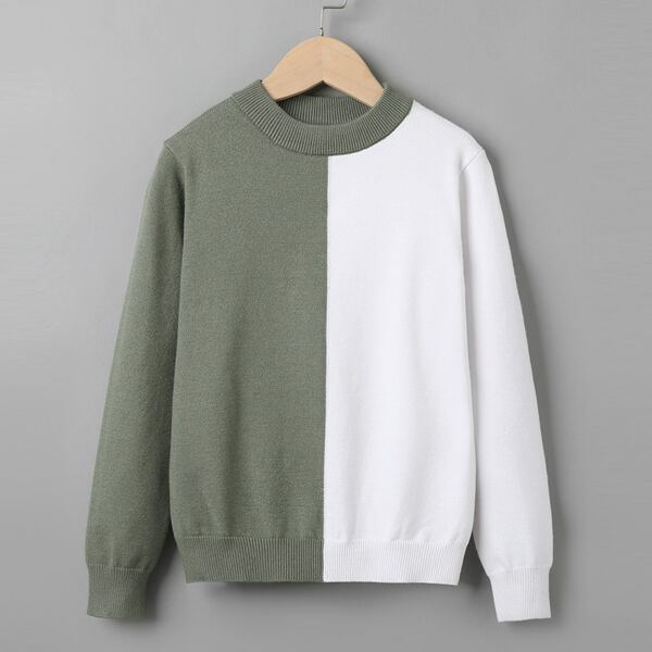 Girls Two Tone Sweater, Multicolor