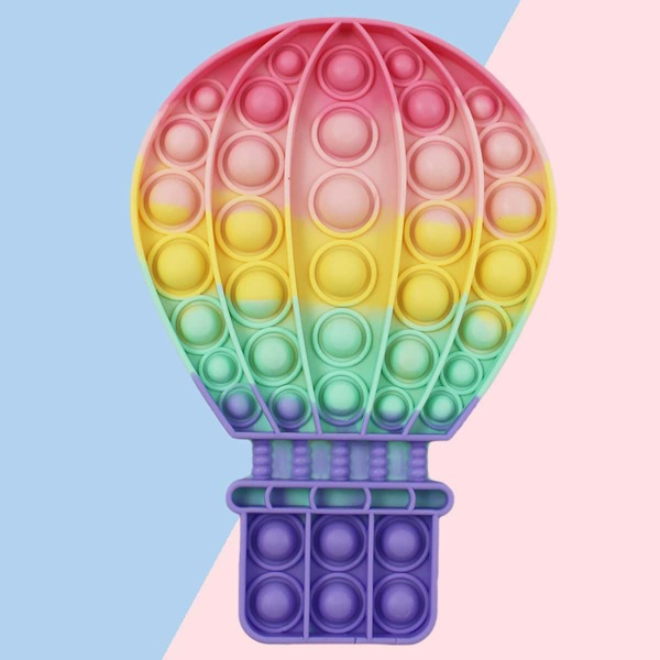 1pc Hot Air Balloon Push Pop Bubble, Multicolor