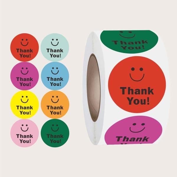 1roll Slogan Graphic Sticker, Multicolor