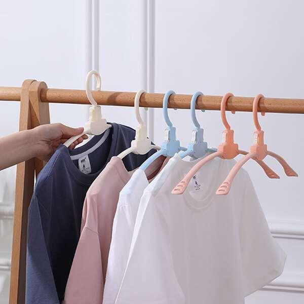 1pc Random Color Foldable Hanger, Multicolor