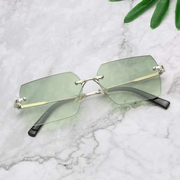 Men Square Frame Sunglasses, Ombre